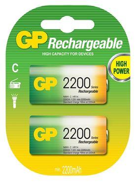 PILA RECARGABLE GP NIMH C 1.2V 2200 MAH BLISTER X2