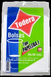 BOLSA PAPELERA*10 TODERA (46x46) (50)