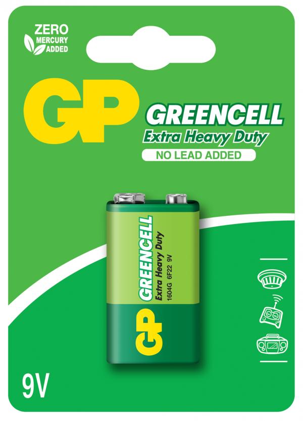 PILA MANGANESO GP GREENCELL GP 9V BLISTER X1