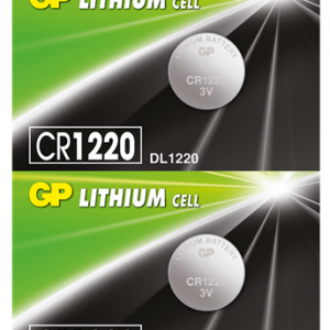 PILA LITHIUM MONEDA GP CR1220 3V 36 MAH BLISTER X5