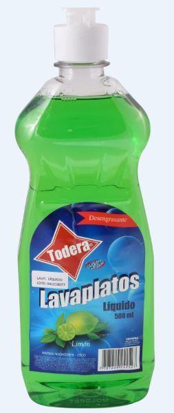 LAVAPLATOS TODERA LIQUIDO*500ML (24)