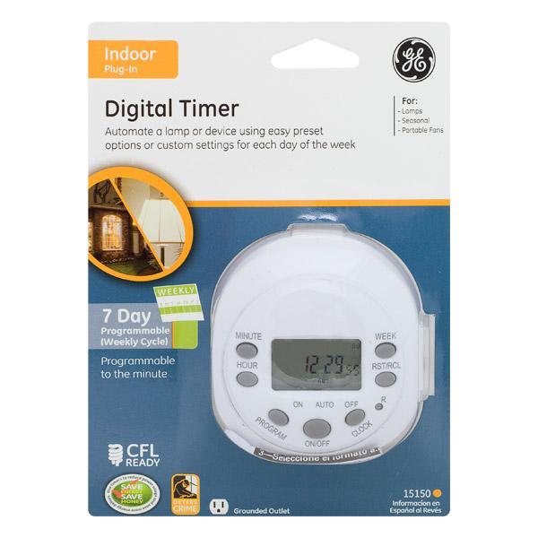 Timer Digital Blanco
