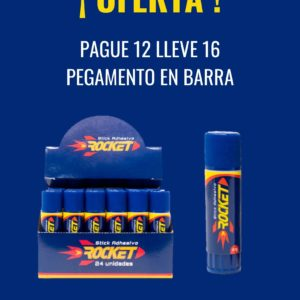 Pague 12 Lleve 16 Rocket Barra